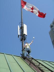 Agnieszka et drapeau canadien